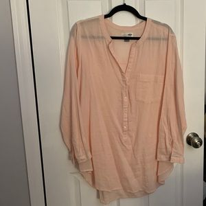 Old Navy Light Pink Long Sleeve Tunic